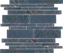 Moonstone  Random Linear Glass Mosaic