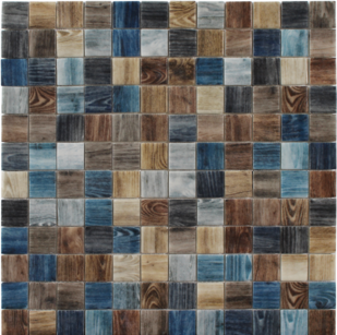 Oak Indigo  1×1 Mosaic 12.25×12.25 Sheet