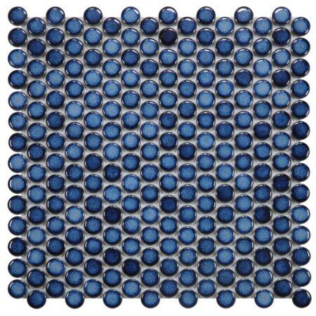 Penny Round Blue Porcelain 11.5 x 11.5