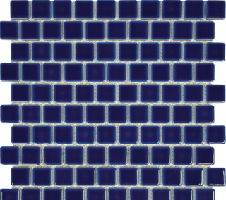 Royal Blue Porcelain 1×1 Mosaic 12×12 Sheet