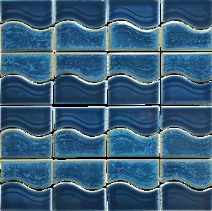 Smoke Blue Porcelain Mosaic 12×12 Sheet