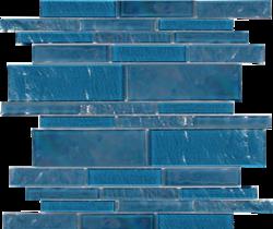 Topazstone  Random Linear Glass Mosaic