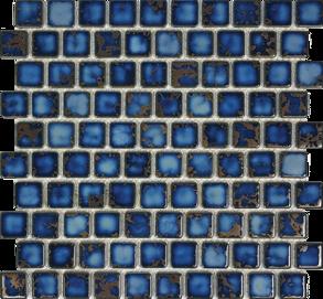 Terra Blue Porcelain 1×1 Mosaic 12×12 Sheet