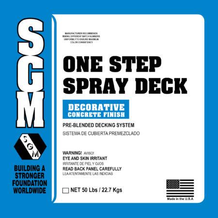 One-Step Spray Deck System