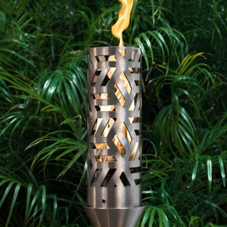 CUBIST FIRE TORCH STAINLESS STEEL