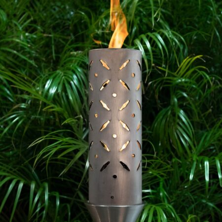 DIAMOND PLATE FIRE TORCH STAINLESS STEEL