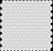 Ice Penny Round Mosaic