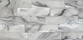 Clouds 2.0 Nimbus 3X12 glass tile