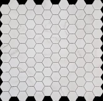 Venato Bone Hexagon Glass Mosaic