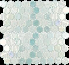 Light Green 1×1 Hex Glass Mosaic