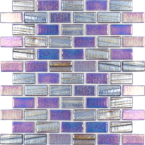 Dark Blue 1×2 Staggered Glass Mosaic