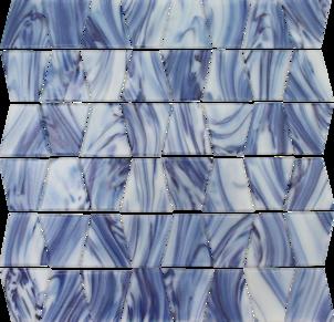 AQUATICA CHIMES FLORES TRAPEZOID FLORES GLASS TILE