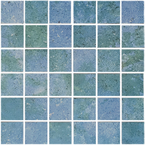 Aquamarine​ 2×2 Mosaic 12×12 Sheet