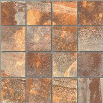 Rust 3×3 Mosaic 12×12 Sheet