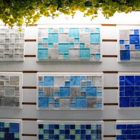 blue pool tile