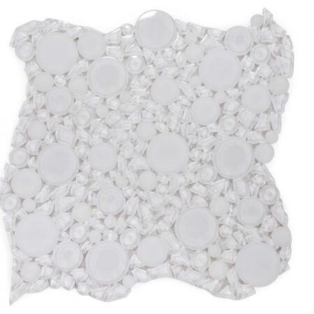 Lady Bianco 10.75 x 10.75 GLASS TILE