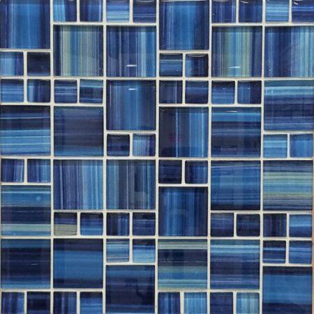 BLOCK RANDOM BLUE MIX PATTERN PDS-1587