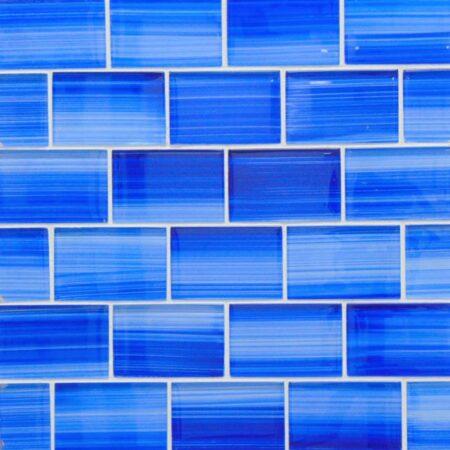 2X3 BLUE MIX GLASS TILE PDS-2383